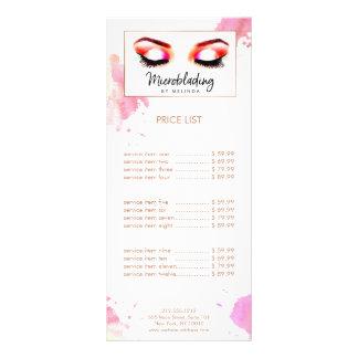 Chic Creative Watercolor Eyebrows Microblading Rack Card