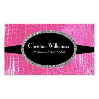 Chic Crocodile skin Rhinestones Business Card