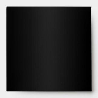 Chic Custom Black Envelope