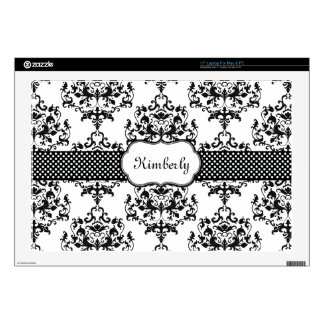 Chic Custom Damask Laptop Skin