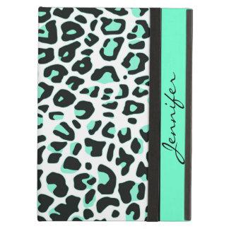 Chic Custom Mint Snow Leopard iPad Air Case