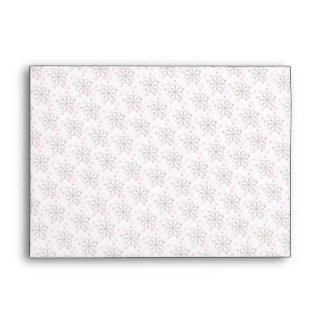 Chic Cute Pink Flowers Envelopes