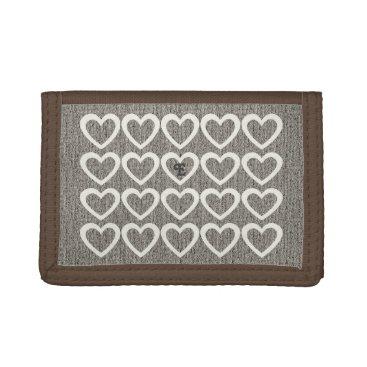 dreamywave Chic Cute Sweet Heart Pattern Monogrammed  Wallet