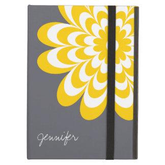 Chic Daisy iPad Air Case - Yellow/Gray