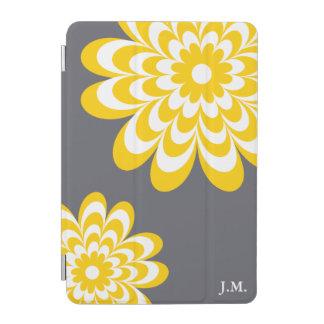Chic Daisy iPad Mini Cover - Yellow Gray