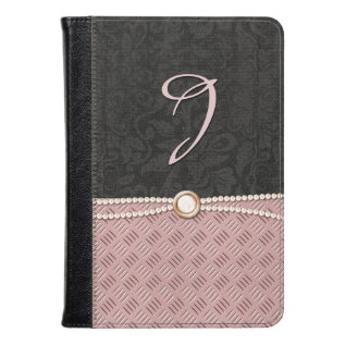 Chic Damask And Metallic Look Kindle Fire Folio Kindle Case at Zazzle