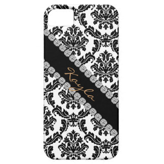 CHIC DAMASK BLING  I phone 5 COVER BLACK & WHITE iPhone 5 Cases