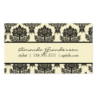 Chic Damask Calling Card Double-Sided Standard Business Cards (Pack Of 100)