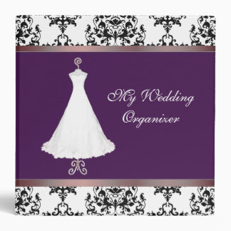 Chic Damask Wedding Organizer Binder