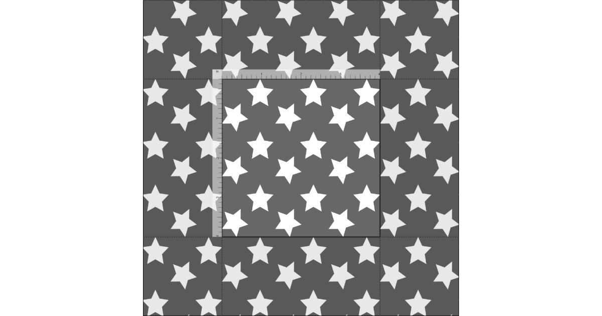 Chic dark gray stars space pattern fabric zazzle for Space pattern fabric