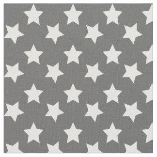 Chic Dark Gray Stars Space Pattern Fabric