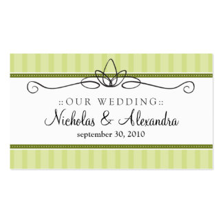 Chic Deco Lime Green Wedding Website Card Double-Sided Standard Business Cards (Pack Of 100)