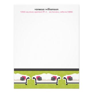 Chic Decor Custom Flat Note Cards (lime) Custom Invitation