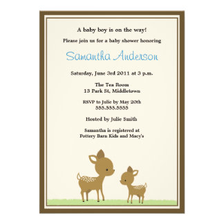 Chic Deer Baby Shower Invitation - Boy