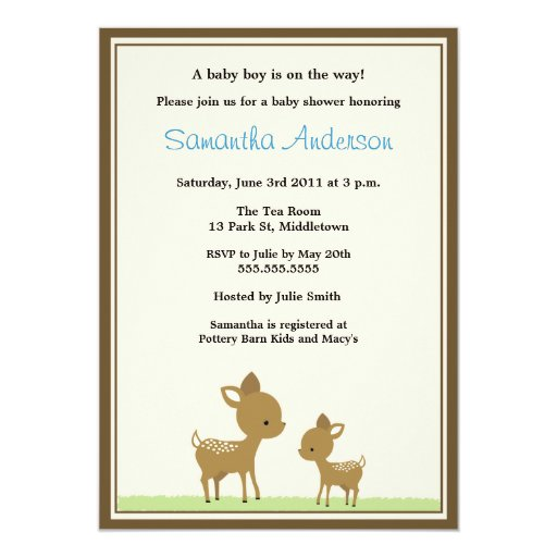 chic deer baby shower invitation boy zazzle