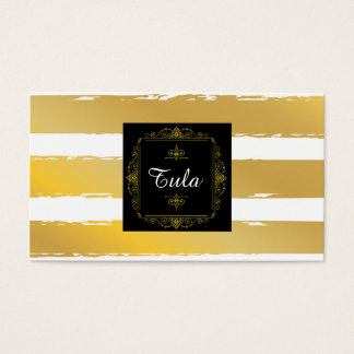 Chic Designer & Stylist Striped Modern Card