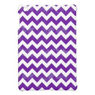 Chic Distressed Worn Purple White Chevron Cover For The iPad Mini