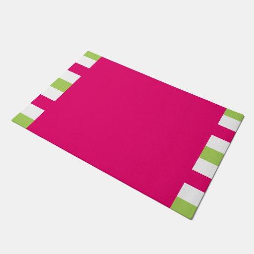 Chic Door Mat Pretty 561 Hot Pink 60 Green White Doormat