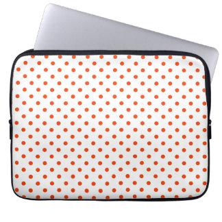 "chic dots laptop sleeve 13"",tangerine"
