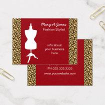 chic dressmaker mannequin Business Cards