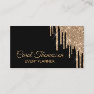 Chic Dripping Gold Business Card