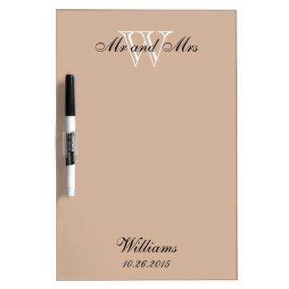 """CHIC DRY ERASER BOARD_""""Mr and Mrs""""_ALMOND Dry Erase Board"""