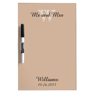 """CHIC DRY ERASER BOARD_""""Mr and Mrs""""_ALMOND Dry-Erase Board"""
