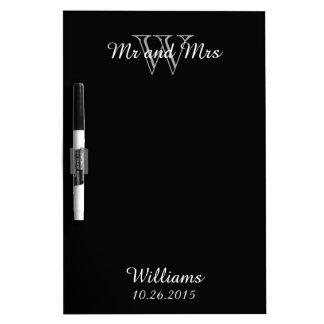 "CHIC DRY ERASER BOARD_""Mr and Mrs""_BLACK Dry-Erase Board"