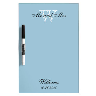 """CHIC DRY ERASER BOARD_""""Mr and Mrs""""_BLUE Dry Erase Board"""