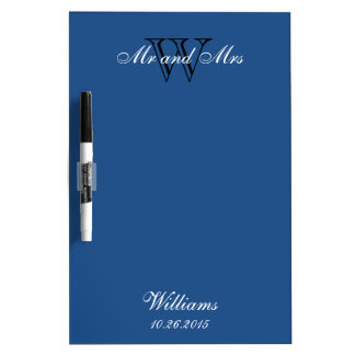 """CHIC DRY ERASER BOARD_""""Mr and Mrs""""_CLASSIC BLUE Dry-Erase Board"""