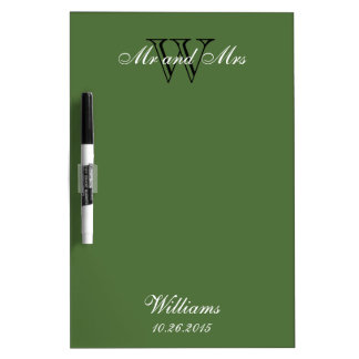 """CHIC DRY ERASER BOARD_""""Mr and Mrs""""_GREEN Dry-Erase Board"""