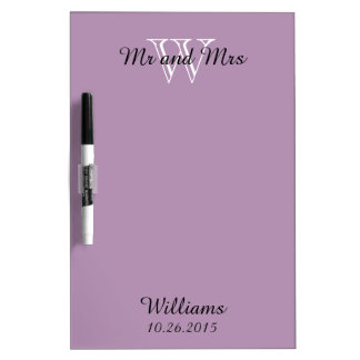 """CHIC DRY ERASER BOARD_""""Mr and Mrs""""_LILAC Dry Erase Board"""