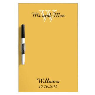 "CHIC DRY ERASER BOARD_""Mr and Mrs""_MERIGOLD Dry-Erase Board"