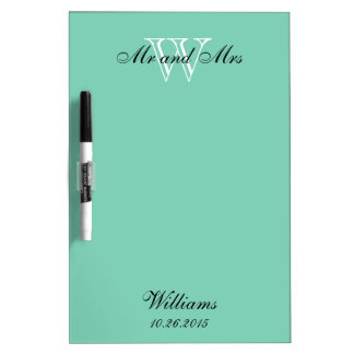 """CHIC DRY ERASER BOARD_""""Mr and Mrs""""_MINT Dry-Erase Board"""
