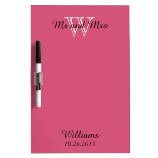"""CHIC DRY ERASER BOARD_""""Mr and Mrs""""_PINK Dry-Erase Board"""