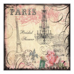 Chic Eiffel Tower & Chandelier Bridal Shower Card