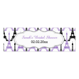 Chic Eiffel tower Pink Personalized Gift Tags Double-Sided Mini Business Cards (Pack Of 20)