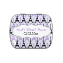 chic Eiffel tower Purple Personalized candy tins