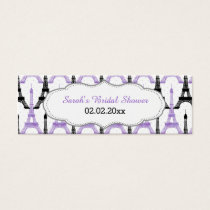Chic Eiffel tower Purple Personalized Gift Tags