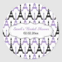 Chic Eiffel tower Purple Personalized stickers