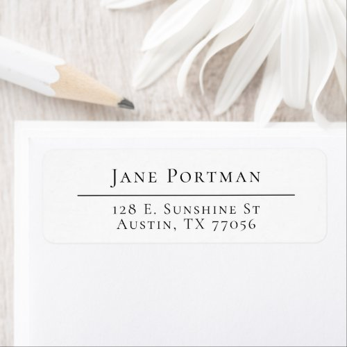 Chic Elegance  Modern Minimalist  Return Address Label