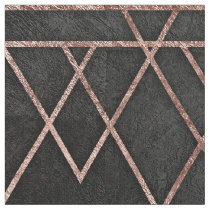 Chic & Elegant Faux Rose Gold Geometric Triangles Fabric