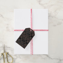 Chic & Elegant Faux Rose Gold Geometric Triangles Gift Tags