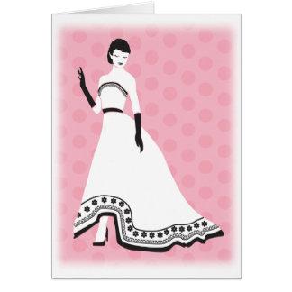 Chic Elegant Girl Card