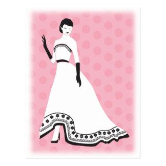 Chic Elegant Girl Postcard
