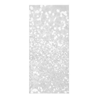 chic elegant glamour White Faux Glitter Rack Card