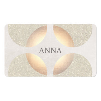 Chic Elegant Glitter Faux Gold Beauty and Fashion Business Card Templates
