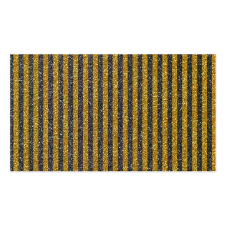 Chic Elegant Gold Black Stripes Glitter Print Business Card