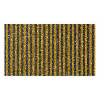 Chic Elegant Gold Black Stripes Glitter Print Business Card Template