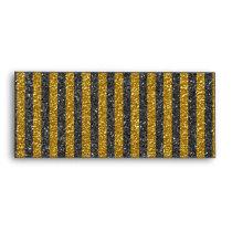 Chic Elegant Gold Black Stripes Glitter Print Envelope